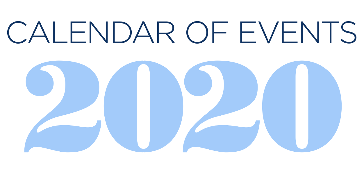 2020 Calendar of Events graphic